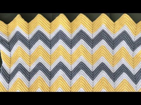 ZİGZAG BATTANİYE #blanket #crochet