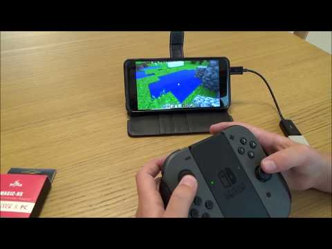 LEFT & RIGHT Nintendo Switch Joy-Con connected to Android Phone