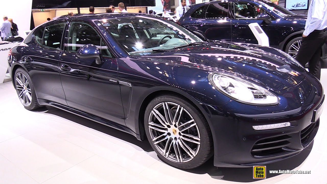 2015 porsche panamera diesel exterior and interior walkaround 2014 paris auto show youtube - 2015 Porsche Panamera 4s