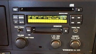 Volvo HU-603 HU-803 radio hidden menu and diagnostic mode