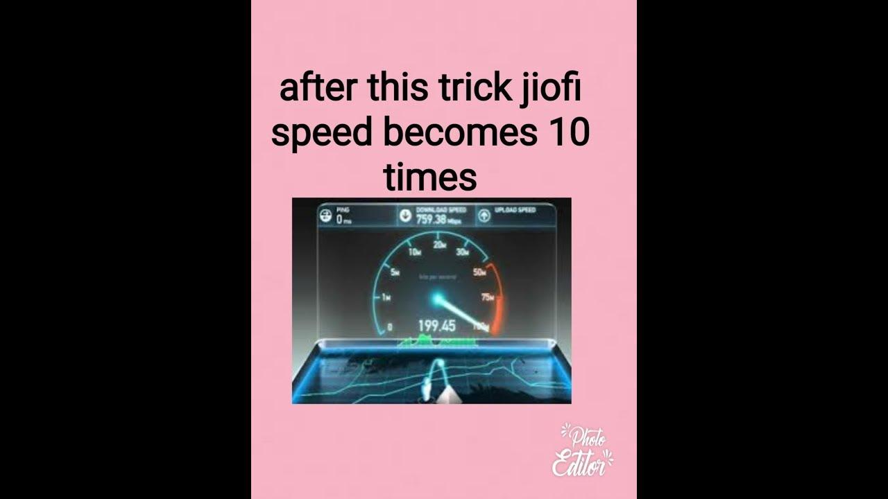 How to increase jiofi speed
