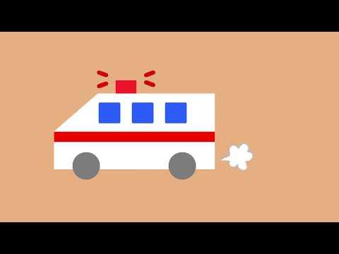 はたらくくるま 🚗 救急車 出動 🚗 乗り物アニメ・子供向け  🚗 Emergency Cars Anime & Cartoons For Kids
