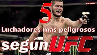 Download 5 PELEADORES mas PELIGROSOS del mundo, libra por libra del 2019 según UFC MMA Mp3 and Videos