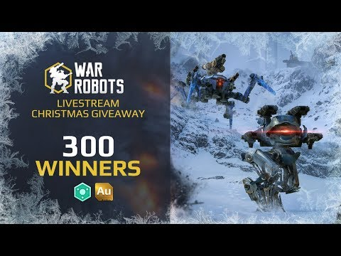 War Robots Official Christmas Giveaway   live stream with Adrian, win 2019 Au or 20190  Power Cells