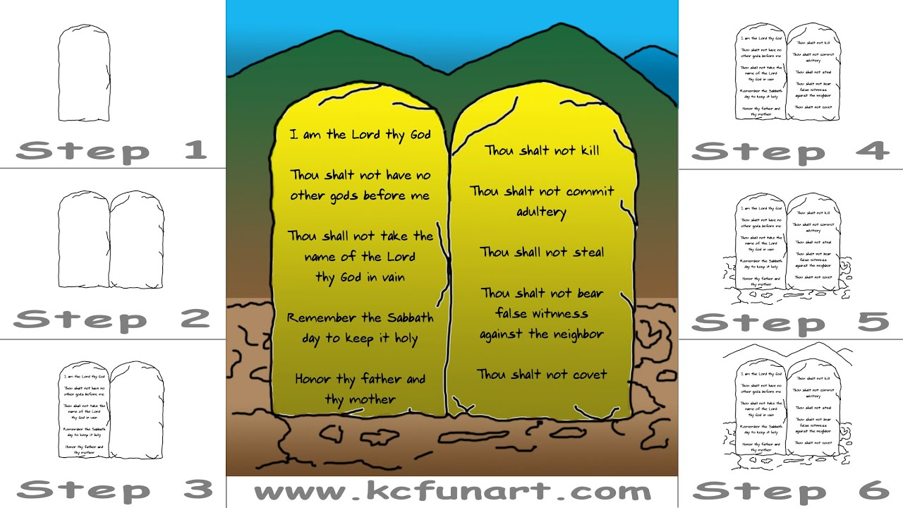 87-How To Draw A Cartoon Ten Commandments - YouTube