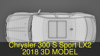 3D Model of Chrysler 300 S Sport LX2 2018 Review