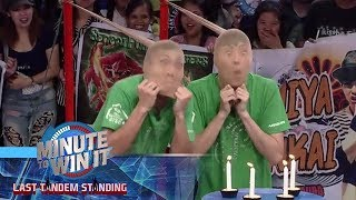 Blow by Blow | Minute To Win It - Last Tandem Standing