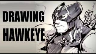 Drawing Hawkeye (with Long Vo)