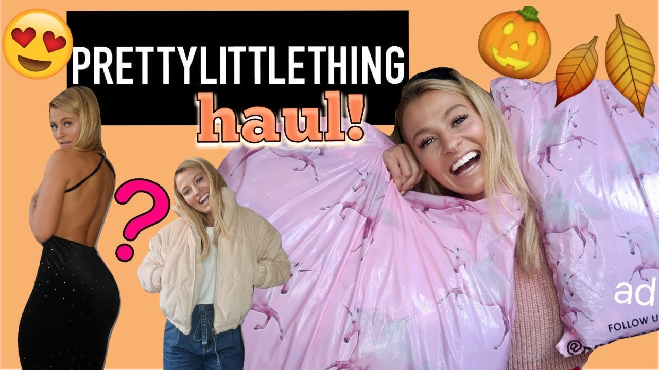 AUTUMN/WINTER PRETTYLITTLETHING TRY ON HAUL! | COSY JUMPERS, SPARKLY DRESSES & ASHLEY GRAHAM RANGE 2
