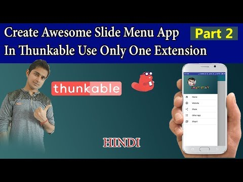 Create Awesome Slide Menu App In Thunkable Use Only One