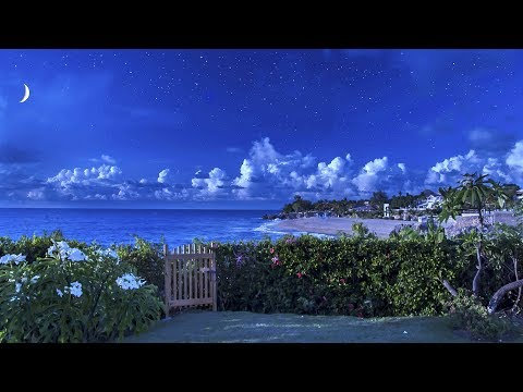 Ocean Waves Lullaby for Sleeping with Blue Nightlight - Ocean Sounds, 8 Hours