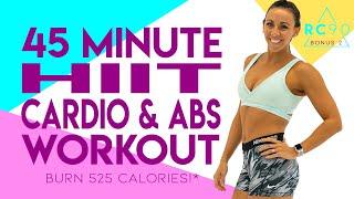 45 Minute Cardio aฑd Abs Workout 🔥Burn 525 Calories!* 🔥Bonus Day 2 | RC90