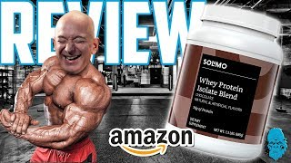 SUBSCRIBE BRO Review of Amazon Brand Solimo Whey Protein Isolate Blend, Chocolate flavor whey protein. Pound for pound, this protein is pretty good on ...