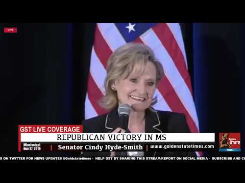 🚨Cindy Hyde Smith Victory Speech after Victory in Mississippi Runoff Election