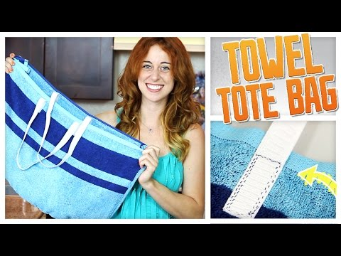 DIY Convertible Beach Towel / Tote Bag!