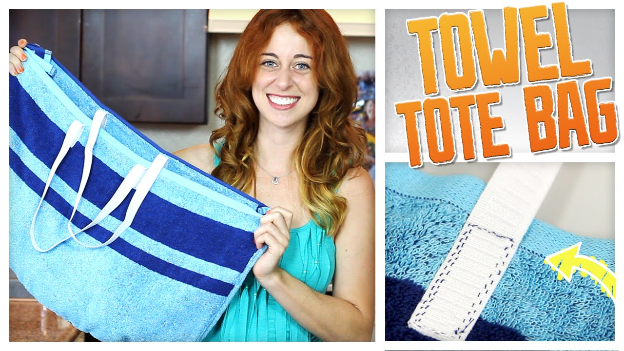 DIY Convertible Beach Towel / Tote Bag! - Do It, Gurl - YouTube