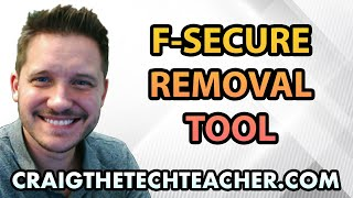 F-Secure Removal Tool Tutorial