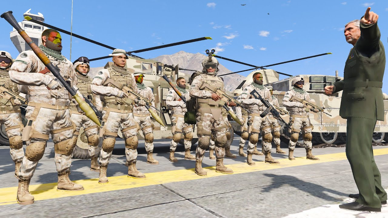 GTA 5 - Franklin Joins The Army🔥EPIC Terrorists vs Army Missions(Terrorists Invades San Andreas )