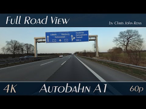 Autobahn (A1), Germany: Bremen - Hamburg - (Hatzte - Dibbersen) - 4K (UHD/2160p/60p)