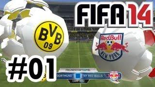 Borussia Dortmund vs. New York Red Bulls - FIFA 14 Demo #01 - Let