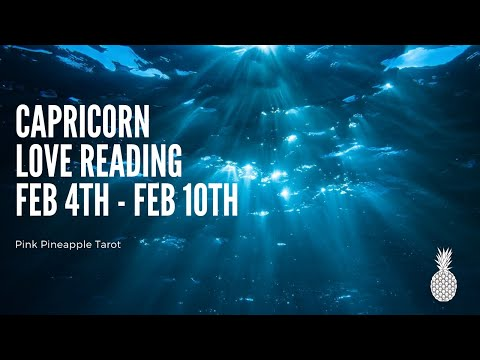 """CAPRICORN """"ACCEPT MY APOLOGY🙏🏼"""" FEB 4-10 WEEKLY LOVE READING 💕🍍💕"""