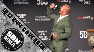 The Rock Press Conference | UFC 244 | Dwayne Johnson