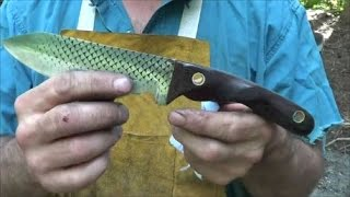 Blacksmithing Knifemaking - Forging A Rasp Chopper Knife From A Farrier