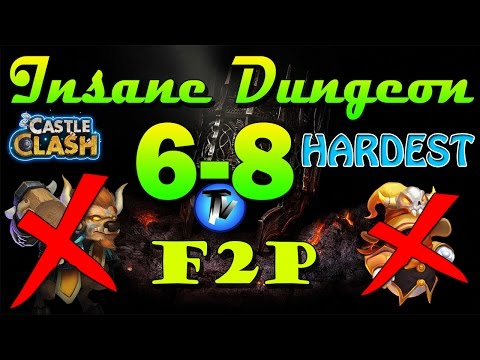 Castle Clash - Insane Dungeon 6-8 [F2P Heroes] Without Mino,sm