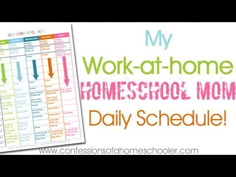 My Homeschooling & Work-at-Home Daily Schedule