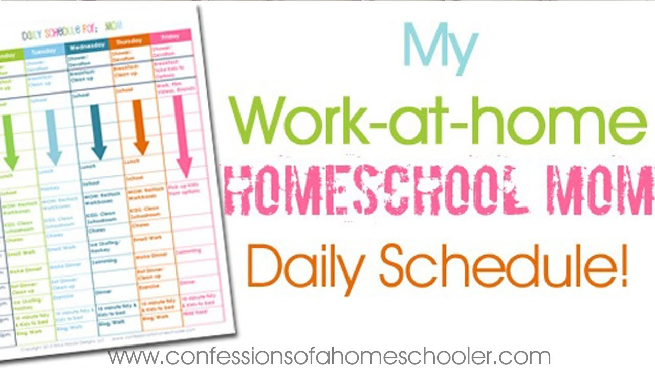 This is a photo of Gratifying Printable Homeschool Schedule