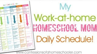 Hi everyone! i've had several requests for my updated homeschooling/work-at-home daily schedule so today i'm sharing how day runs! keep in mind this is a ...