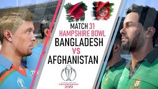 CWC 19 (Match 31) Bangladesh Vs Afghanistan - Cricket 19 Gameplay Highlights & Prediction [4K]