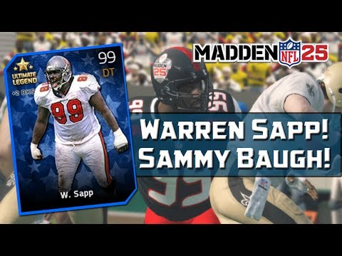 MUT 25 NEW Ultimate Legends! Madden 25 Ultimate Team - 99 Overall Warren Sapp & Sammy Baugh