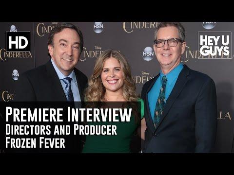 Directors Jennifer Lee & Chris Buck with Peter Del Vecho - Frozen Fever (Cinderella World Premiere)