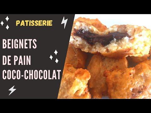 🍫🍫beignets-de-pain-a-la-noix-de-coco--chocolat-sans-oeuf-sans-levure-🍫🍫