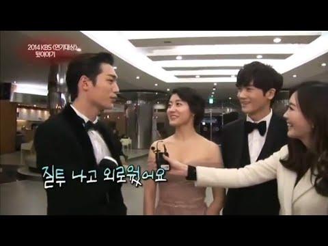 Park Hyung Sik, Nam Ji Hyun & Seo Kang Jun At Backstage KBS Drama Awards 2014