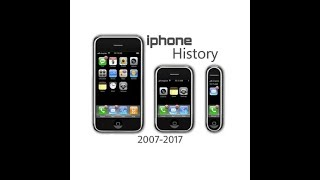History of Iphone 2007-2017
