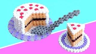 Manualidades: PASTEL o TARTA 3D de perler beads (hama beads)