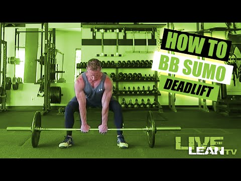 How To Do A BARBELL SUMO DEADLIFT | Exercise Demonstration ...