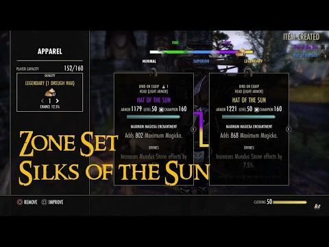 ESO Set | Silks of the Sun Set Farm Location // Zone Set