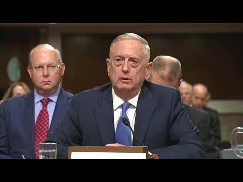 Senate Armed Services Committee hearing. Sec. Mattis, Gen. Dunford testify. Oct 3, 2017.