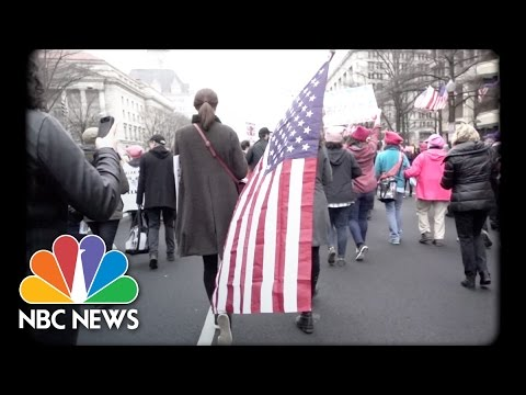 A Slow-Motion View of the Women s March | NBC News