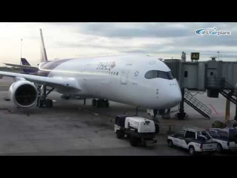 Thai airways First A350-941WXB HS-THB inaugural flight การบินไทย A350 เที่ยวบินแรก
