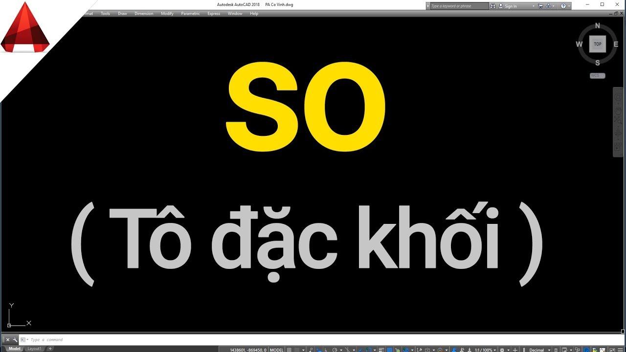 Lệnh SO (Solid) ✅ Lệnh Tô Đặc Khối Trong AutoCAD // Học AutoCAD Từ Cơ Bản Tới Nâng Cao.
