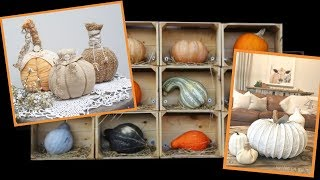 Fall Decorating Ideas.No Carve Pumpkins Inspo. Crafts to Make and Sell
