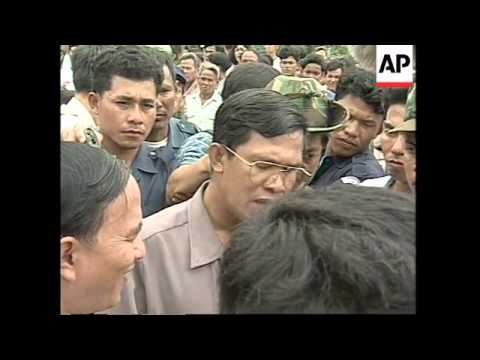 CAMBODIA: NEW RULER HUN SEN ATTENDS OPENING OF SCHOOL