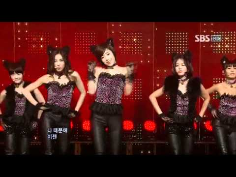 T-ara - Bo peep Bo peep (티아라 - 보핍 보핍) @ SBS Inkigayo 인기가요 100110