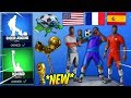 *NEW* Fortnite World Cup Skins LEAKED! ⚽ *COUNTRIES SKINS!!* + Emotes (Kicks Up , Red Card)