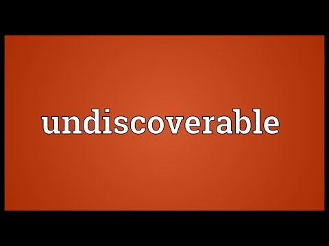 Header of undiscoverable