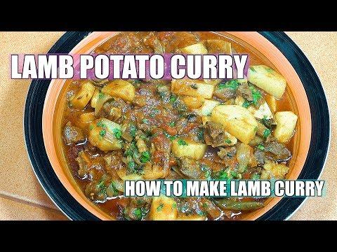 Lamb Potato Curry - Indian Style Lamb Masala - Lamb Curry - Aloo Gosht